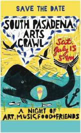Arts Crawl this Saturday - great time to visit Retreat (poster by Kim Baise)